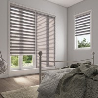 Essence Grey Day Night Roller Blind