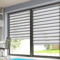 Lustre Chrome Day Night Roller Blind