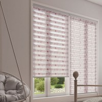 Posy Blush Day Night Roller Blind