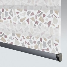 Terrazzo Burgundy - Day Night Roller Blind